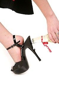 Black Patent Bottle Opener Heels(party shoes) duel purpose..:)