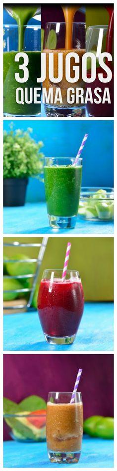 Te presentamos tres deliciosos jugos que son perfectos si te encuentras en una dieta o simplemente si quieres un desayuno ligero y saludable. Son tres bebidas muy refrescantes y super sencillas de preparar. ¡Pruébalas!