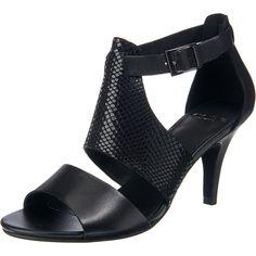 Im eleganten Look und aus hochwertigem Glattleder präsentieren sich diese VAGABOND Abbey Sandaletten. Bestimmt wird der Stil durch den breiten Riemen im Schlangenlederlook auf dem Spann. - schmaler Riemen um die Fessel mit eckiger Schnalle und Dornschließe - Fersenbereich geschlossen, sorgt für bessere Stabilität - leicht gepolsterte Decksohle aus Leder - Verschluss: Schnalle - Schuhspitze: ...