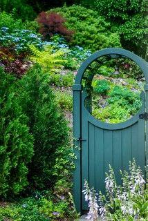 Gorgeous paint colour for this arbor gate
