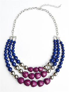 Multi Strand Necklace, Bead Necklace, Statement Necklace by Shamelessly Sparkly $14.90