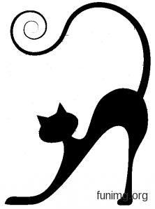 Motif Art Deco, Cat Applique, Cat Tattoo Designs, Black Cat Art, Cat Silhouette, Book Folding, Cat Crafts, Hand Embroidery Designs, Cat Drawing