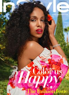 Kerry Washington covers the March 2020 issue of InStyle magazine photographed by Sebastian Faena and styled by Law Roach. Mad Love, Revista Instyle, The Americans, Nurse Jackie, Ray Donovan, It Crowd, Hemlock Grove, Boardwalk Empire, Jane The Virgin