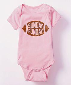 Light Pink 'Sunday Funday' Football Bodysuit - Infant
