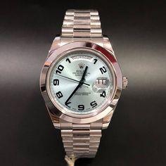 Rolex 218206 Daydate II Ice Blue Platinum (2010) WA : 628121067189  : 021-7209021 https://mulialegacy.com