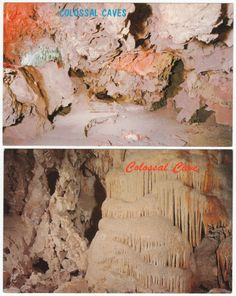 Late 1960s Colossal Cave, Tucson, Arizona Post Cards, Lot of 7 different out of print post cards, Ex-Ex/M condition, all unused, $9