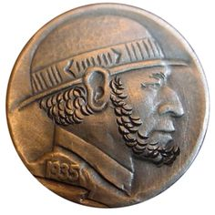 Owen Covert Hobo Nickel, Modern Artists, Xmen, Coin Collecting, Skull Art, Skulls, Marvel Comics, Buffalo, Classic Style