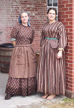 Civil War work dresses
