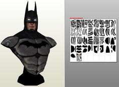 Paper's Juke: papercraft Bust Batman - Arkham City