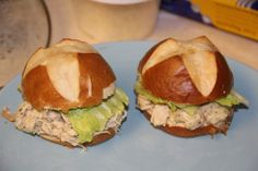 Shredded Chicken Caesar Sandwiches #crockpot #recipe