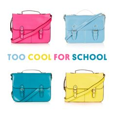 Are you still looking for the perfect little satchel? We have them in all shades and sizes.