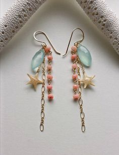Véritable étoile de mer Dangle Earrings par BellaAnelaJewelry