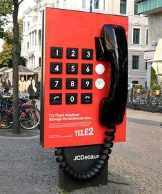 Giant phone advertising