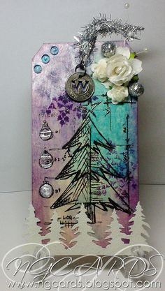 NG Cards: SA Christmas Blueprint Stamp & Sizzix On The Edge Tree Line Die http://ngcardschristmas.blogspot.com/2012/10/charisma-cardz-dont-be-square.html#