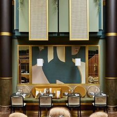 Spectacular project by Maison Numéro 20 for the Restaurant of the new La Defens MGallery's restaurant. Tailor-made artwork by… La Defense Paris, Design Bar Restaurant, West Palm, Interior Styling, Luxury, Architecture, Instagram, Table, House