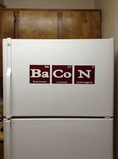 Bacon Vinyl Decal  Fridge Decor  Refrigerator by DecalsEnFolie, $9.00