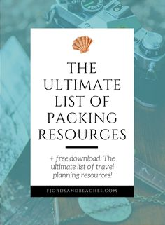 Packing resources. Packing and planning. Packing tips. List of packing tips and resources.