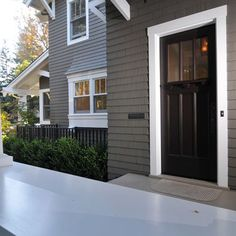 Exterior Color Combo - Dark Taupe Exterior Design, Pictures, Remodel, Decor and Ideas
