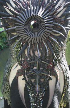 Beata Kania, dress detail, hand embroidery