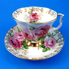Royal Albert American Beauty Roses with Gold Tea Cup and Saucer Set | Pottery & Glass, Pottery & China, China & Dinnerware | eBay!