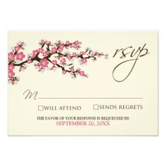 >>>The best place          Cherry Blossoms RSVP Card (pink) Personalized Invite           Cherry Blossoms RSVP Card (pink) Personalized Invite today price drop and special promotion. Get The best buyHow to          Cherry Blossoms RSVP Card (pink) Personalized Invite Online Secure Check out...Cleck Hot Deals >>> http://www.zazzle.com/cherry_blossoms_rsvp_card_pink_invitation-161636107116874289?rf=238627982471231924&zbar=1&tc=terrest