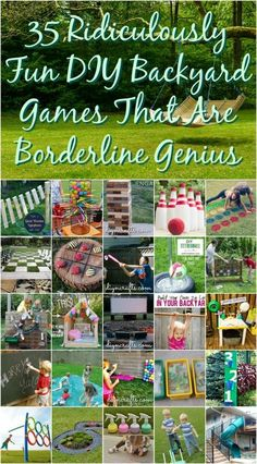 It is that time of year again - time for backyard fun! Looking for some great Family Fun or Party Ideas? You will love these 35 Ridiculously Fun DIY Backyard Games That Are Borderline Genius! Cool Diy, Fun Diy, Diy Games, Diy Yard Games, Free Games, Summer Fun, Summer Games, Summer Things, Party Summer