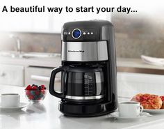 A beautiful KitchenAid Coffee Maker for the counter! What better way to start the day..
