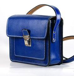 Classic English Blue Genuine Leather handmade shoulder bag purse. Stylish Designers OOAK   high quality Italian leather handbag by FeltSilkArtGift on Etsy https://www.etsy.com/listing/286352877/classic-english-blue-genuine-leather