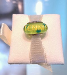 Our new tennis etched bead! It really  looks like a tennis ball!