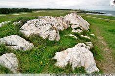 Caillou Blanc : curieux ensemble de pierres blanches sur l'île d'Yeu (Vendée)