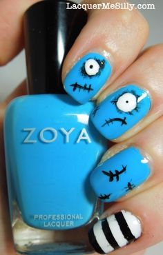 Want special nails for Halloween? Look no further: 15 of the best HALLOWEEN nail ART ideas w/ tutorials. Halloween Nail Designs, Halloween Nail Art, Scary Halloween, Happy Halloween, Halloween Images, Love Nails, Pretty Nails, Holiday Nail Art, Cute Nail Art