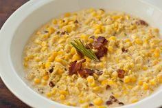 Creamed Corn with Bacon and Rosemary - Pinch My Salt