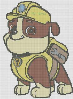 Paw patrol Rubble x-stitch