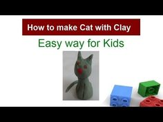 how to make a clay cat - YouTube