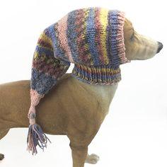 Multi Greyhound Snood Dog Hat lurcher Italian greyhound