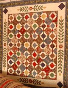 Free Pattern - Antebellum Quilt from Humble Bee.   This site has hundreds of free patterns.