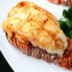 Broiled Lobster Tails with Garlic Butter Sauce by shanon #Lobster_Tails