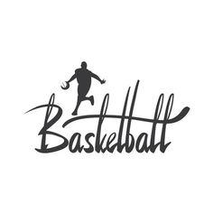 Basketball Calligraphy Decal