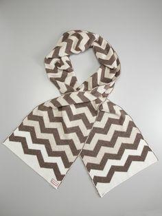 chevron wool scarf