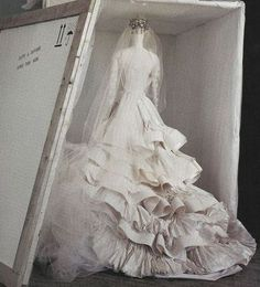 Christian Lacroix wedding dress photographed by Irving Penn