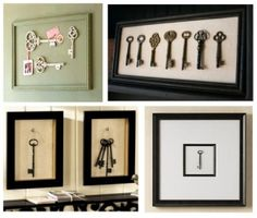 Antique Vintage Decor - Unique paintings and original, artist-signed prints sure are nice but who can afford them? But on the other hand, it's kind of a bummer to buy inexpensive wall art at Target, Bed Bath Antique Keys, Vintage Keys, Diy Wall Art, Wall Decor, Mur Diy, Inexpensive Wall Art, Old Keys, Keys Art, Key Design
