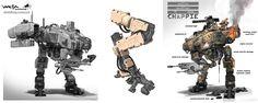 Nuthin' But Mech: Pearce: Chappie Military Robot, Art Studio Organization, Cool Doodles, Winter Art Projects, Tactical Equipment, Robot Concept Art, Robot Design, Mechanical Design, Machine Design