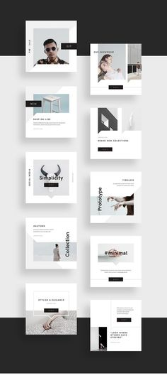 Minimalism is a visual concept that never goes out of style. Is it a modern way how showcase brand and communicate with audience. Introducing Minimal Social Media Pack for easy building your professional layouts ready to share with world.Pack includes l… Instagram Design, Ideas Fotos Instagram, Instagram Square, Web Banner Design, Layout Design, Print Layout, Book Design, Social Media Branding, Social Media Quotes