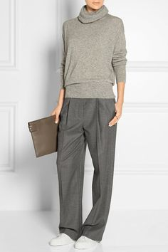 Caray stretch-wool wide-leg pants Source by maryhasafever outfit ideas for women work wear Fashion Mode, Work Fashion, Womens Fashion, Mode Outfits, Casual Outfits, Fashion Outfits, Look Street Style, Pantalon Large, Winter Mode