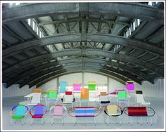 PVC chairs made by prisoners in Columbia. Love the colours. Marni for Salone del Mobile.