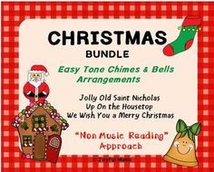 *** CHRISTMAS SPECIAL $5.00 ***The following songs are included:• Jolly Old Saint Nicholas• Up On the Housetop• We Wish You a Merry ChristmasThis product includes the following materials:• Lesson Plan, Objectives, Procedures for each piece• Musical arrangements used for each piece• Sheets with lyric...