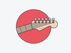 Guitar Icon - Process Animation