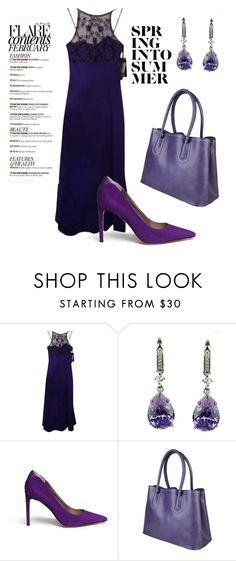 """Purple ViVid colors"" by enahxiong ❤ liked on Polyvore featuring Morgan & Co. and Sam Edelman"