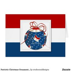 5c66fa4163242 Patriotic Christmas Ornament with Flag in Star Card Military Cards
