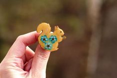 Cat brooch with pressed flowers Gift for daughter. Wooden pin for sweater